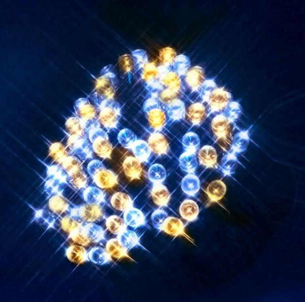 LED-Lichterkette | Serie LED | Outdoor | Schwarzes Kabel | warm- & kaltweiße LED gemischt | 4.00m | 40x LEDs