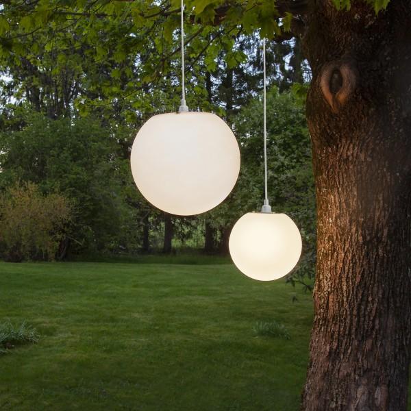 Hängelampe MALLORCA - für E27 Fassung - D: 28cm, H: 25cm - outdoor - weiß