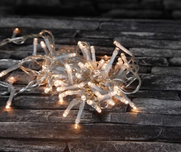 LED-Lichterkette | DURA STRING LED | Batteriebetrieb | Timer | Transparentes Kabel | 11.20m | 160x LED | Warmweiß