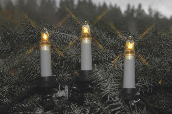 Kerzenkette | XMAS | Outdoor | Ring | ↑11cm | 12,00m | 25er Set