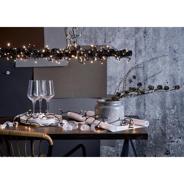 LED Lichterkette - Serie LED - outdoor - 80 kaltweiße LED - L: 5,6m - schwarzes Kabel