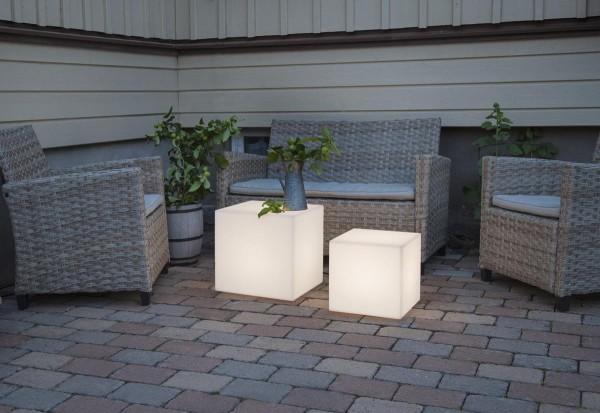 Garten-Würfel 30cm - E27 Fassung - Erdspieß - max 23W - 5m Zuleitung - outdoor...