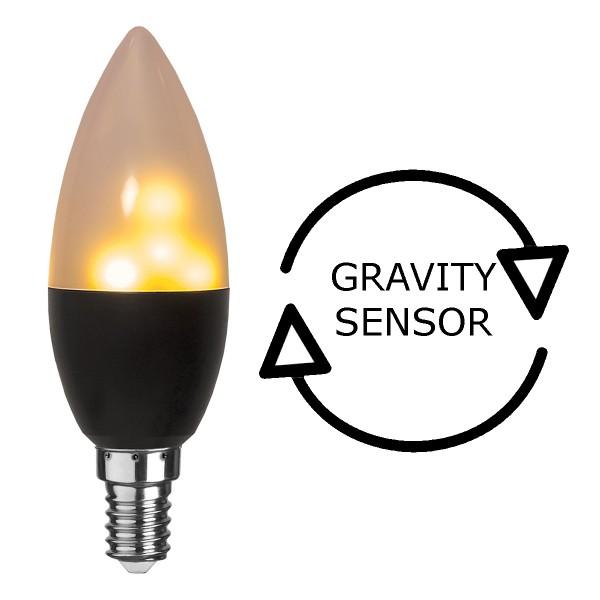 LED Kerzenlampe mit Feuereffekt - Simulation einer Flamme - E14 Sockel - Fackellampe