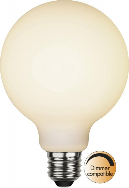 LED DEKO Leuchtmittel G95 - OPAL - soft-touch - E27 - D: 95mm - 5W - 2600K - 400lm - dimmbar.
