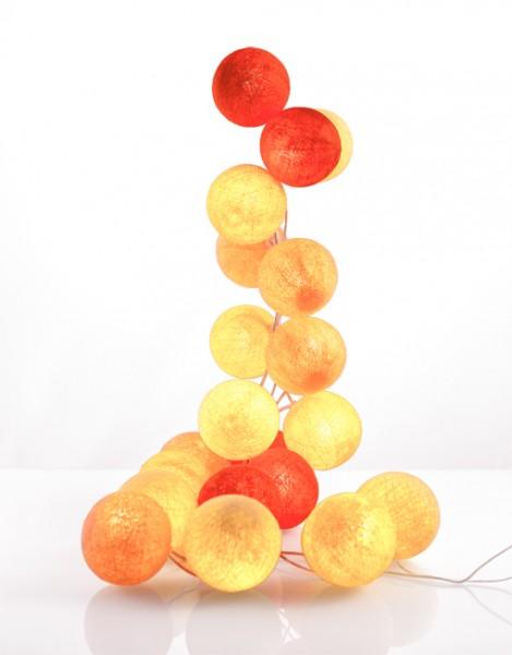 good moods* LEUCHTSTOFF - Ball-Lichterkette mit 35 Stoffkugeln - 35 warmweiße LEDs - Geschenkkarton