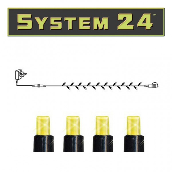 System 24 | Lichterkette Starter Set 5m| koppelbar | 49 warmweiße LEDs | inkl. Trafo