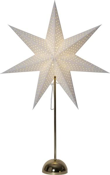 """Papierstern """"Lottie"""" - stehend - 7-zackig - 50 warmweiße LED - Ø 53cm, H: 75cm - creme/gold"""