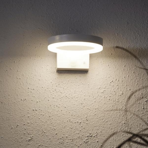 "LED Solar Wandleuchte ""Vidi"" - 40 warmweiße LED - Bewegungsmelder - Dämmerungssensor - weiß"