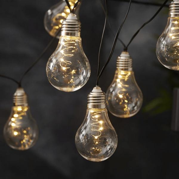 "LED Lichterkette ""Glow"" - Solar - Outdoor - 10 warmweiße LED - L: 1,9m - Lichtsensor - transparent"