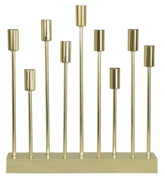 "Kerzenleuchter ""PIX"" - 9-armig - E14 Fassung - H: 50cm, L: 42cm - gold"