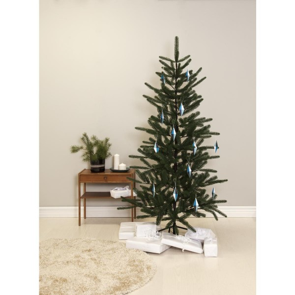 "Weihnachtsbaum ""Boden"" - H: 180cm, D: 105cm - grün - Full-PE - Metallfuß - outdoor"
