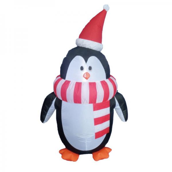 Pinguin - aufblasbare Figur 120cm - für Innen und Außen - mit Gebläse und LED Licht