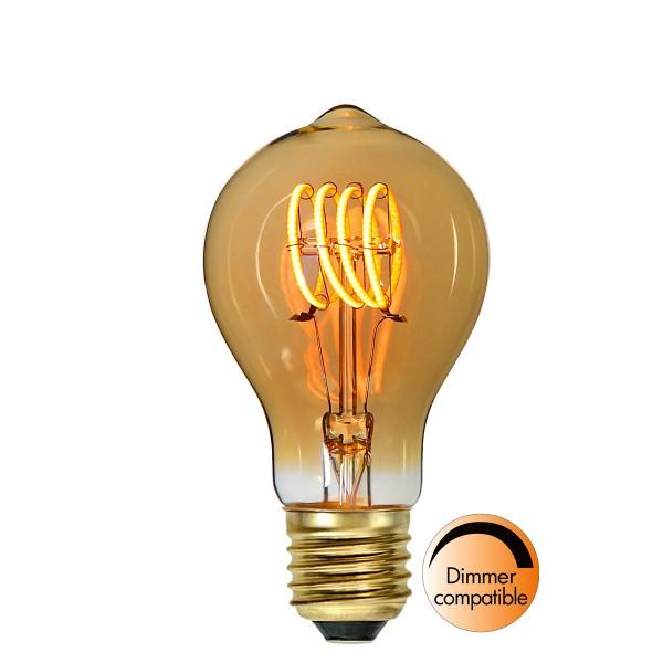 "Dekoration LED Tropfenlampe ""Amber Spiral Filament""- E27- ultra warmweiß 2000K - 110lm - H: 110mm"