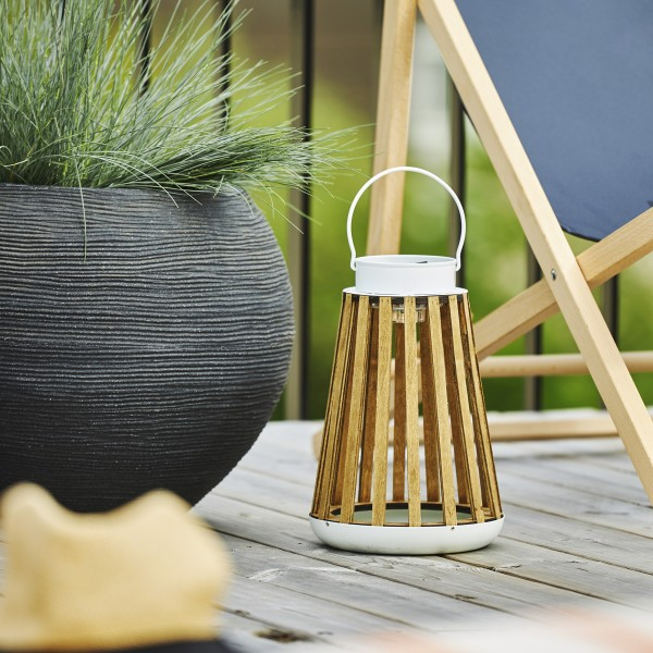 LED Solar Laterne CATANIA - zum Hängen o. Stellen - warmweiße LED - H: 28cm - Lichtsensor - Outdoor