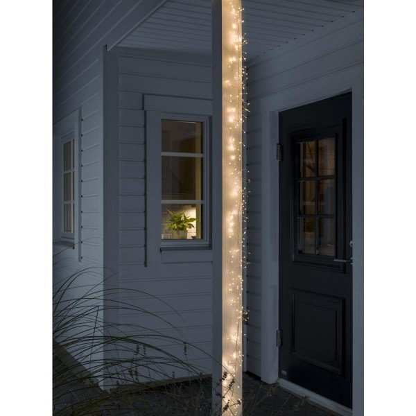 LED Micro Büschellichterkette - Cluster - 360 ultra warmweiße LED - L: 2,7m - 8 Funktionen - Outdoor