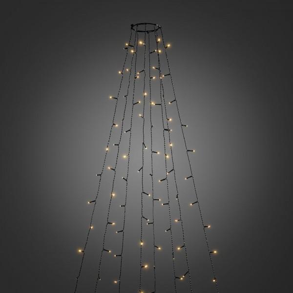 LED Baummantel Lichterkette - 8 x 4,0m - 8 Stränge á 50 Ultra Warmweiß LEDs - Outdoor - Glimmereffekt