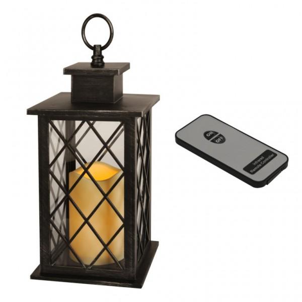 LED-Laterne | Jaipur | 1x LED-Kerze | flackernde LED | ↑30cm