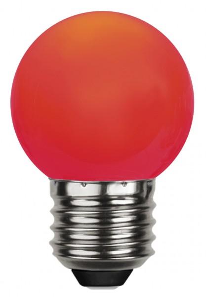 LED Kugellampe DECOLINE G45 - 0,8W - rot - 16lm -E27