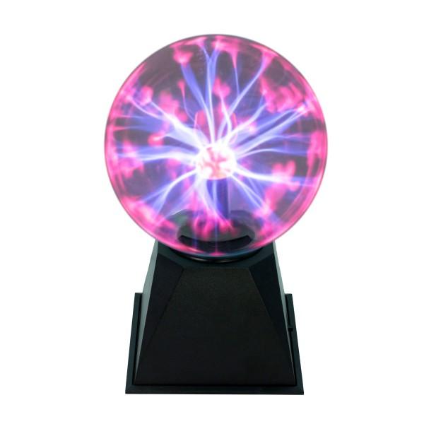 B-Ware Plasmakugel – zuckend, rote Blitz-Show – Automatikbetrieb oder Musiksteuerung - 15cm Kugel