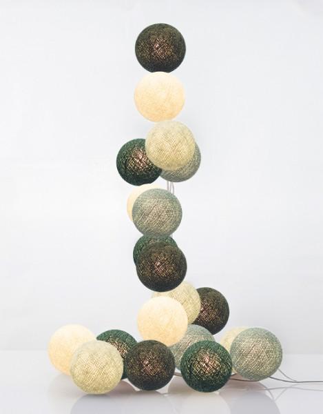 good moods* NORDLICHT 20 - Ball-Lichterkette mit 20 Stoffkugeln - 20 warmweiße LEDs - Geschenkkarton