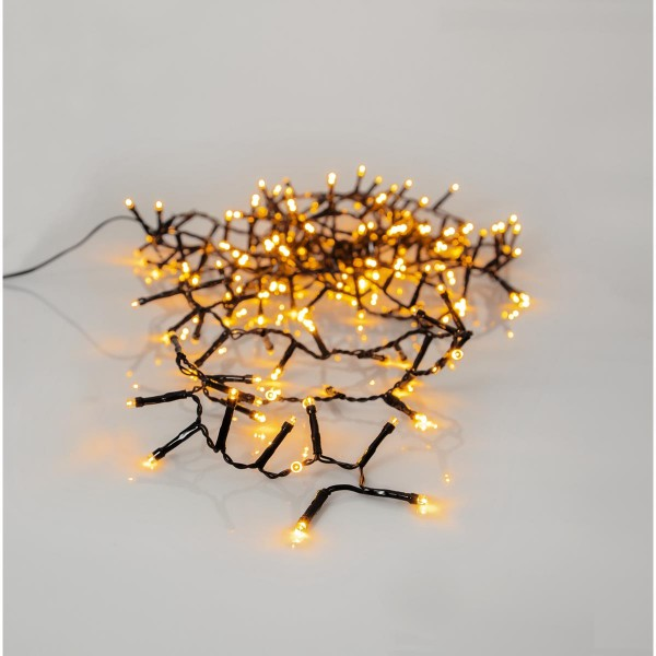 LED Lichterkette - Serie LED - outdoor - 180 ultra warmweiße LED - L: 3,6m - schwarzes Kabel