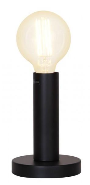 Lampenhalterung | GLANS | E27 | →12cm x ↑17cm | 180cm Kabel | Röhre lang | stehend | Schwarz