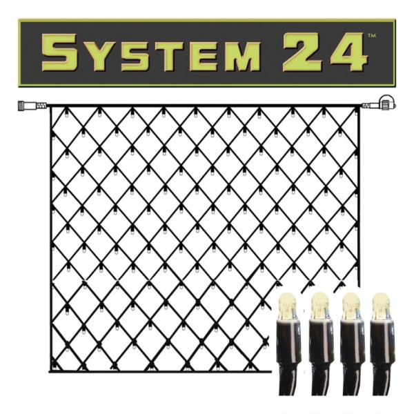 System 24 | LED-Lichternetz | koppelbar | exkl. Trafo | 1.00 x 1.00m | 42x Warmweiß
