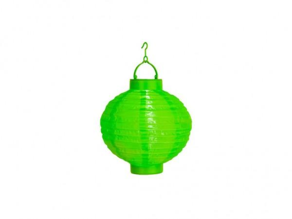 Solar-Lampion grün - LED Automatik bei Dunkelheit - D: 20cm - mit Montagehaken