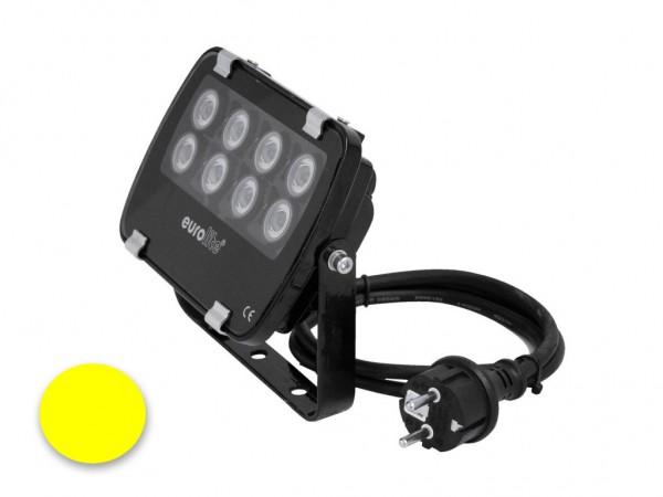 EUROLITE LED IP FL-8 | 30° | 8x1W | IP56 | gelb - Fassandenstrahler - Flutlicht - Baumstrahler - Scheinwerfer