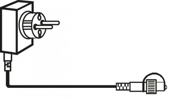 System DECOR | Start-Trafo | koppelbar | 5m schwarzes kabel | max. 1000 LEDs im Gesamtsystem