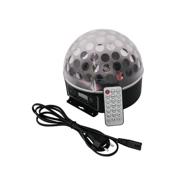 """LED Strahleneffekt mit DOT-Effekt """"BC-7"""" - raumfüllende, dünne Strahlen, Fernbedienung"""