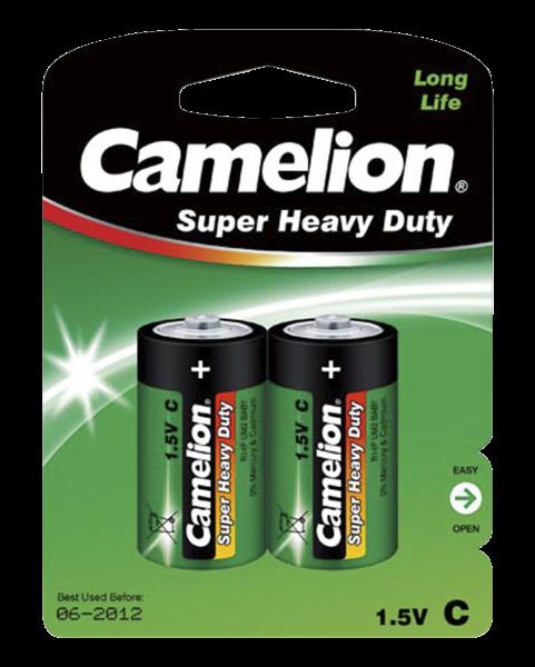 Camelion Batterie Baby C - 2 Stück - Typ: LR14 - 1,5V - Super Heavy Duty - Long Life