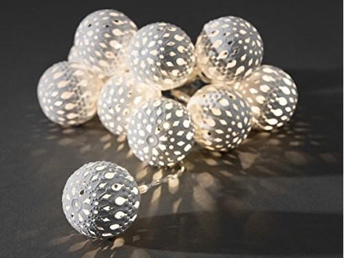 LED-Lichterkette - Liku Line Indoor - Batteriebetrieb - 0,90m - Ø 4cm - 10x Warmweiß - Weiß
