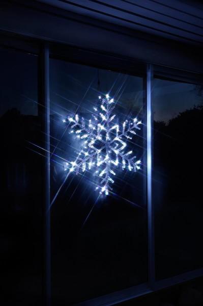 "LED-Acryl-Schneeflocke ""Antarctica"" - 48 kaltweiße LEDs - D: 80cm - Outdoor"