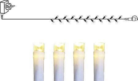 System DECOR | Starter Set Lichterkette 10m| koppelbar | weißes Kabel | 100 WW LEDs | inkl. Trafo