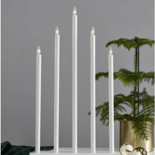 """Fensterleuchter """"Holy"""" - 5flammig - warmweiße Glühlampen - H: 64cm - Schalter - Weiß"""