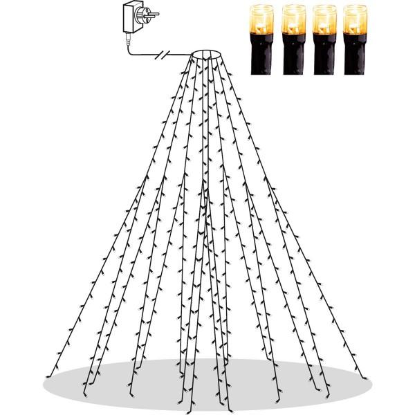 LED Baummantel - Serie LED - outdoor - 360 ultra warmweiße LED - H: 2.00m - schwarzes Kabel