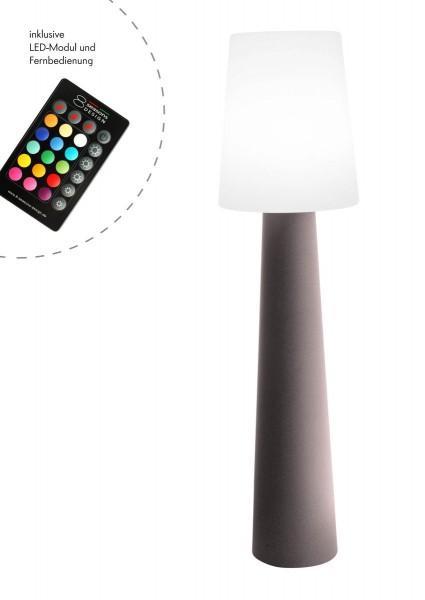 """Outdoor XL Stehlampe No. 1 """"Taupe"""" H:160cm - LED Modul - Außenleuchte IP44"""