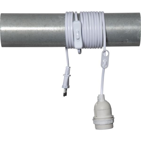 Ersatzkabel für Leuchtsterne und Hängeartikel - Länge ca. 3,5 m - E27 Fassung - mit Schalter - weiß