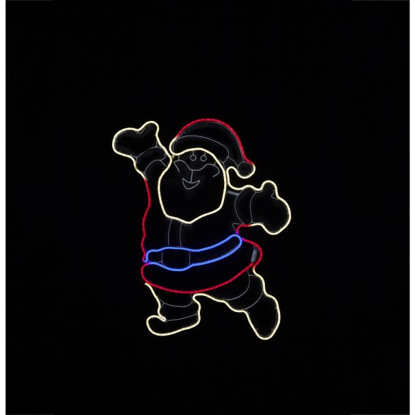 "LED Santa/Nikolaus ""Neoled"" - 300 bunte LEDs - ca. 55 x 74 cm - Outdoor Figur für Fassaden"
