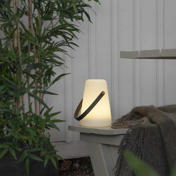 LED Dekoleuchte/Laterne LINTERNA - warmweiße LED - H: 20cm - Batterie - Timer - outdoor