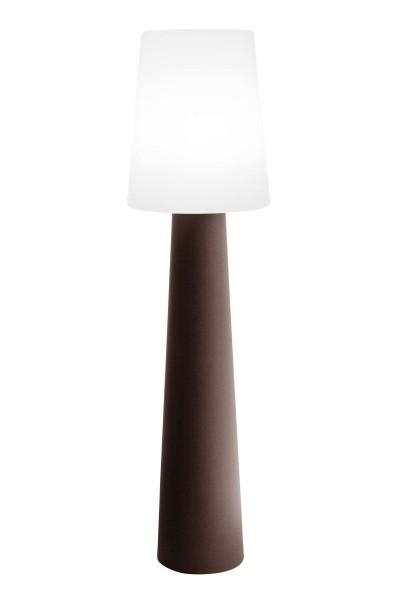 """Outdoor XL Stehlampe No. 1 """"Braun"""" H:160cm - E27 Fassung - Außenleuchte IP44"""