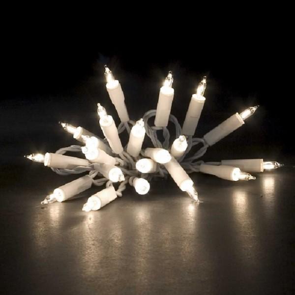 35er Lichterkette weißes Kabel - 8,1m - warmweiße Glühlampen