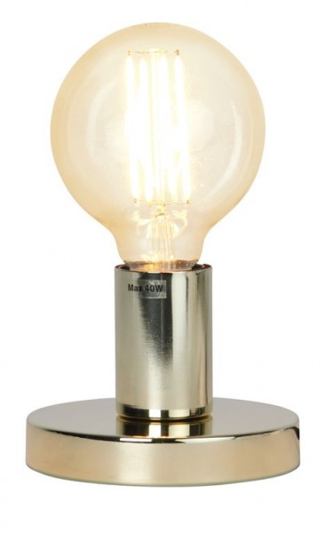 Lampenhalterung | GLANS | E27 | →12cm x ↑8,5cm | 180cm Kabel | Röhre kurz | stehend | Messing