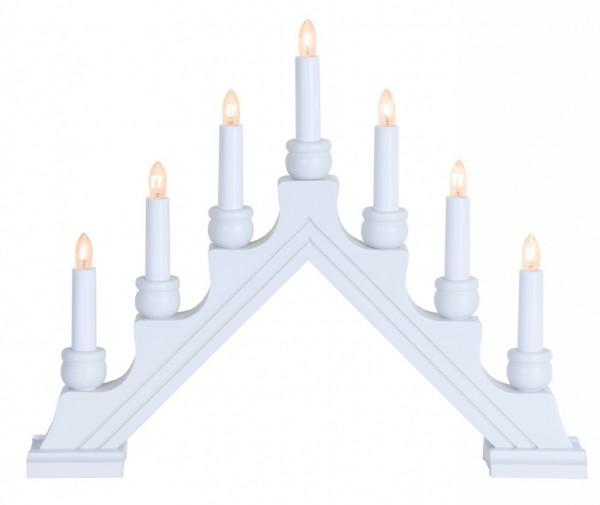 B-Ware Fensterleuchter KARIN - 7 warmweiße Glühlampen - L: 42cm, H: 34cm - Schalter - Weiß