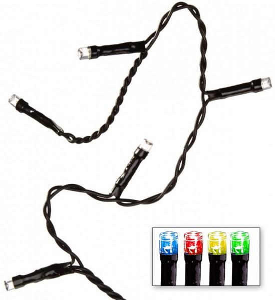LED-Lichterkette | Serie LED | Outdoor | Schwarzes Kabel | bunte LED | Controller | 12.00m | 240x LEDs