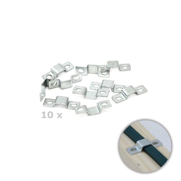 10er Set Metall-Clip für Illu-Kabel - Befestigung für Flachkabel | SATISFIRE