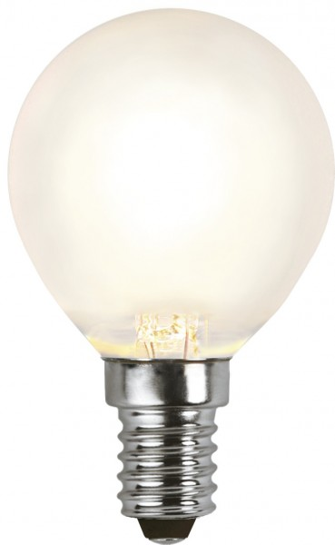 LED Tropfenlampe FILA P45 - E14 - 4W - WW 2700K - 350lm - gefrostet - dimmbar