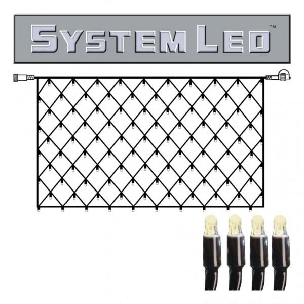 System LED Black | Lichtnetz | koppelbar | exkl. Trafo |2.00m x 1.00m | 100x Warmweiß