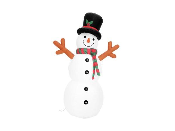 Schneeman aufblasbare Figur 180cm - auch für Innen und Außen - mit Gebläse und LED Licht